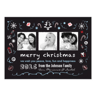 Fun Christmas Sketches Card with Kid Photos