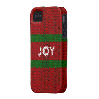Fun Christmas Sweater Look Custom Name Cover iPhone 4 Case