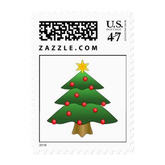 Fun Christmas Tree Postage Stamp