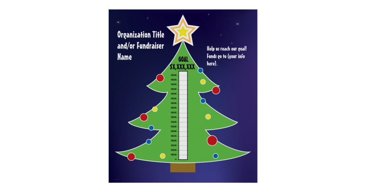 Fun Christmas Tree Thermometer Poster | Zazzle.com