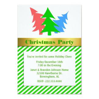 Fun Christmas Trees Party Invitation
