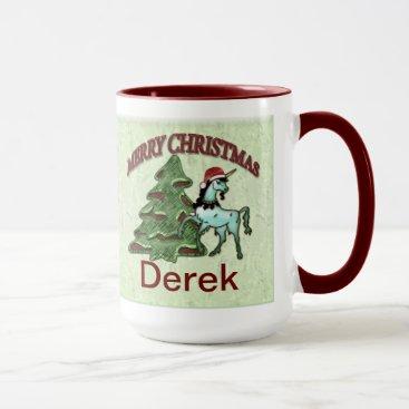 Coffee Themed Fun Christmas Unicorn Coffee Mug