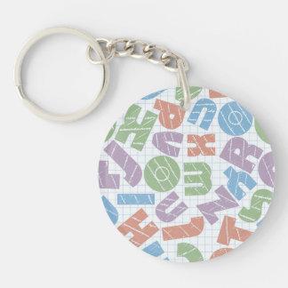 Fun Chunky Cartoon Letters Design Keychain