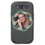 Fun Circle frame - Masculine Mustard on black Samsung Galaxy S3 Covers