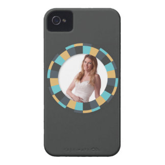 Fun Circle frame - Masculine Mustard on black iPhone 4 Case-Mate Case
