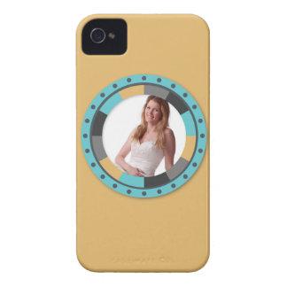 Fun Circle frame - Masculine Mustard on yellow iPhone 4 Case-Mate Case