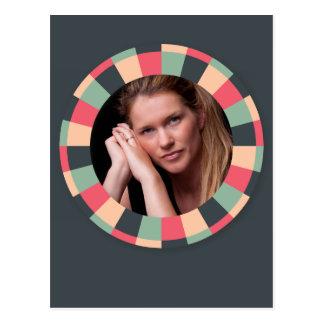 Fun Circle frame - vintage candy - dark Postcard