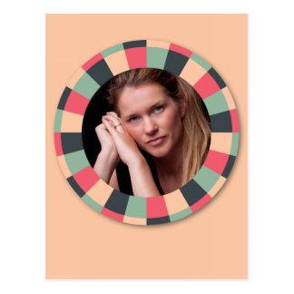Fun Circle frame - vintage candy - light Postcard