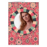 Fun Circle frame - vintage candy - pattern Stationery Note Card