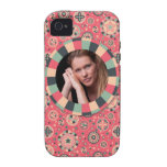 Fun Circle frame - vintage candy - pattern Case-Mate iPhone 4 Covers