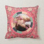 Fun Circle frame - vintage candy - pattern Pillow