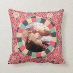 Fun Circle frame - vintage candy - pattern Pillows