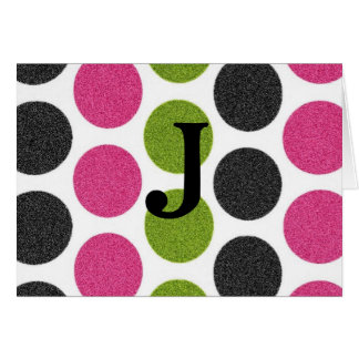 FUN CIRCLE INITIAL THANK YOU NOTES GREETING CARDS