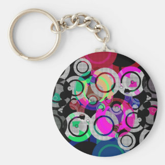 Fun Circles and Oddities Keychain