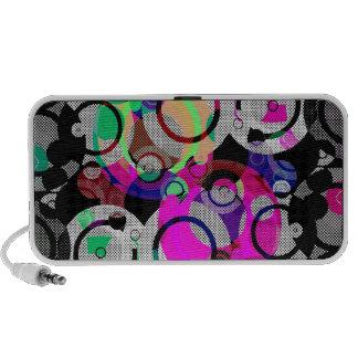 Fun Circles and Oddities Laptop Speakers
