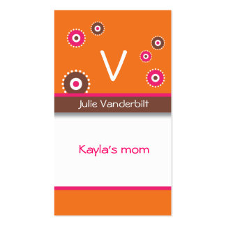 Fun circles Mommy Card Double-Sided Standard Business Cards (Pack Of 100)