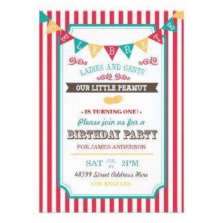 Fun Circus Birthday Party Invite
