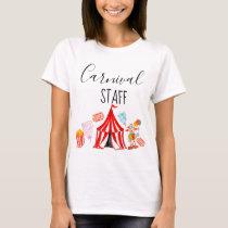 Fun circus carnival staff kid party shirt