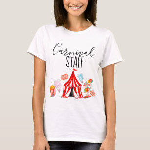 Womens Cute Circus Birthday Party T Shirts