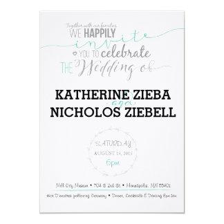 Fun & Classic Wedding Invite