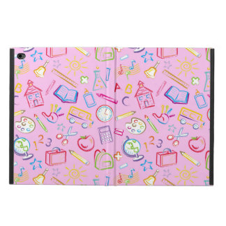 Fun Classroom Icons on Pink Powis iPad Air 2 Case