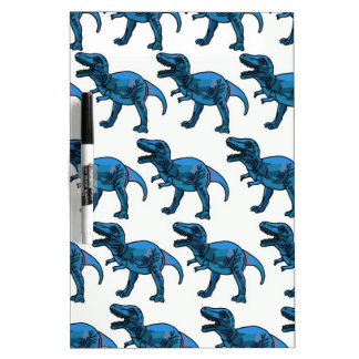 Fun Classy Stylish Blue T-Rex Dry-Erase Whiteboard