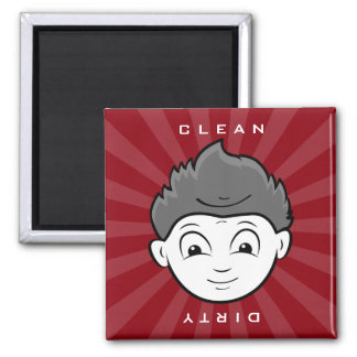 Fun Clean Or Dirty Two Faces in One Dishwasher Magnet
