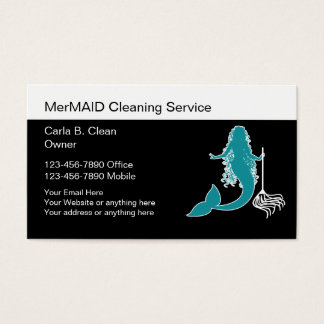 Fun Cleaning Business Cards