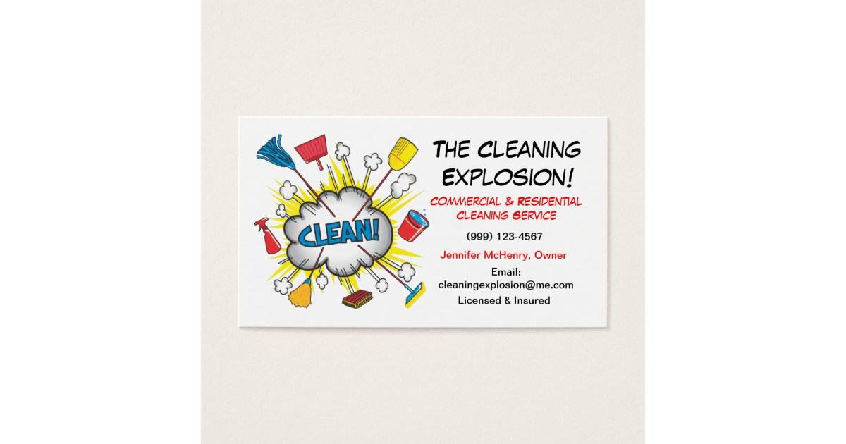 Janitor Business Cards & Templates   Zazzle