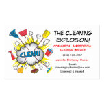 Fun Cleaning Service business cards