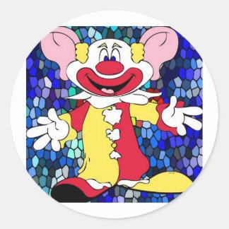 Fun Clown Classic Round Sticker