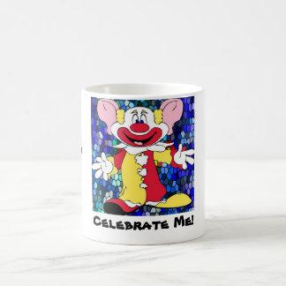 Fun Clown, Mushroom, Mushroom, Celebrate Me! Coffee Mug