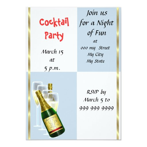 Cocktail Party Invitations was adorable invitations template