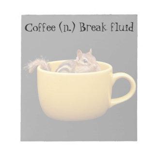 Fun Coffee Lovin' Chipmunk Notepad