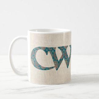 Fun Coffee Mug Welsh Paisley Cwtch Slogan
