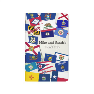 Fun Collage of State Flags Road Trip Journal