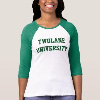 Fun Collegiate Twolane University 3/4 Sleeve Tee