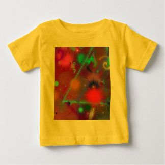Fun Color Astro Chart Colorful Abstract Art Baby T-Shirt