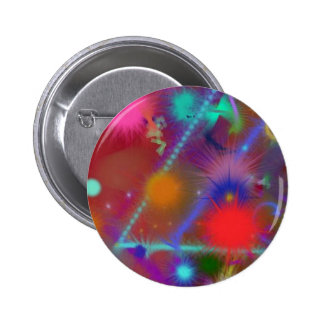 Fun Color Astro Chart Colorful Abstract Art Buttons
