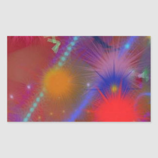 Fun Color Astro Chart Colorful Abstract Art Rectangular Sticker