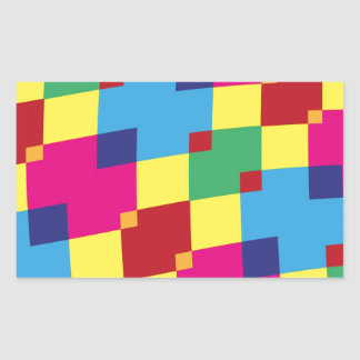 Fun Color Blocks Rectangular Sticker