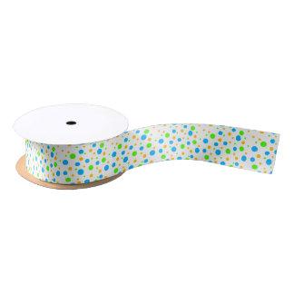 Fun Color Dots Satin Ribbon