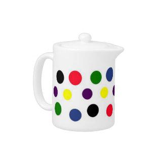 Fun Color Dots Teapot