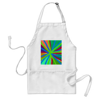 Fun Color Paint Doodle Lines Converging Pin Wheel Adult Apron