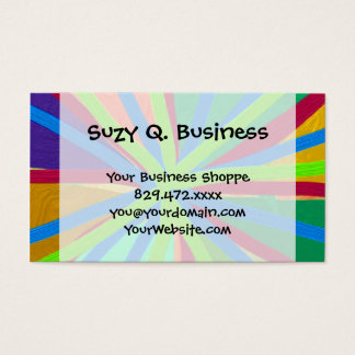 Fun Color Paint Doodle Lines Converging Pin Wheel Business Card