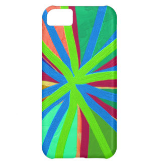 Fun Color Paint Doodle Lines Converging Pin Wheel iPhone 5C Cover