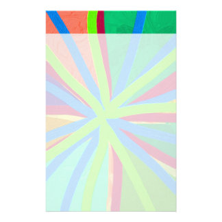 Fun Color Paint Doodle Lines Converging Pin Wheel Stationery