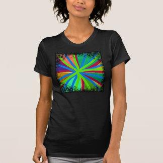 Fun Color Paint Doodle Lines Converging Pin Wheel T-Shirt