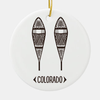 Fun, Colorado Snowshoe Illustration Art Product Ceramic Ornament