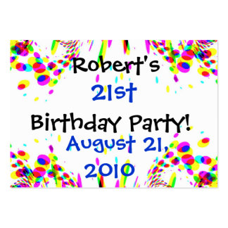 Fun Colorful 21st Party! Card